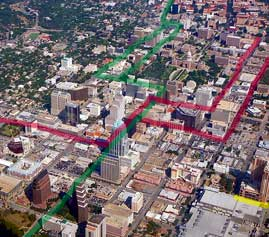 proposed rail lines in central Austin