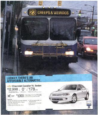 bus labeled Creeps and Weirdos