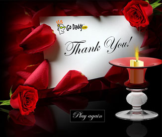 Valentine's message from GoDaddy
