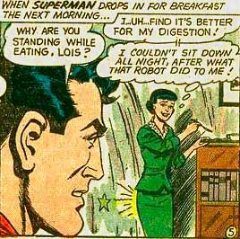 Lois Lane's butt hurts