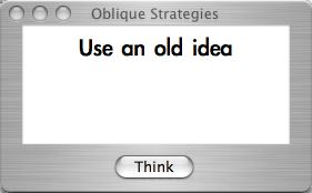 Oblique Strategies for Mac OS X
