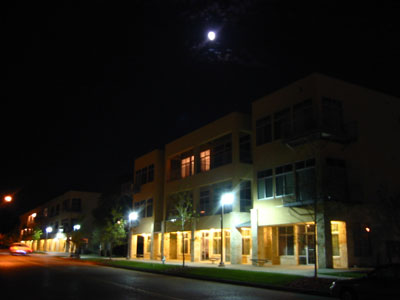 Pedernales Lofts at night